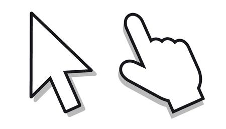 Zestaw wskaźnika myszy-edytowalne ikony wektorowe Ilustracje wektorowe
