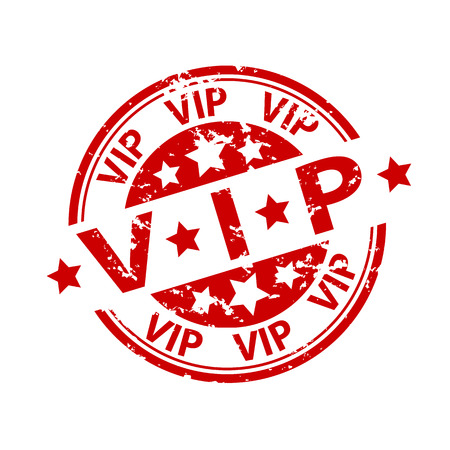 Rubber Stamp Seal, Vip which means very important person Illustration