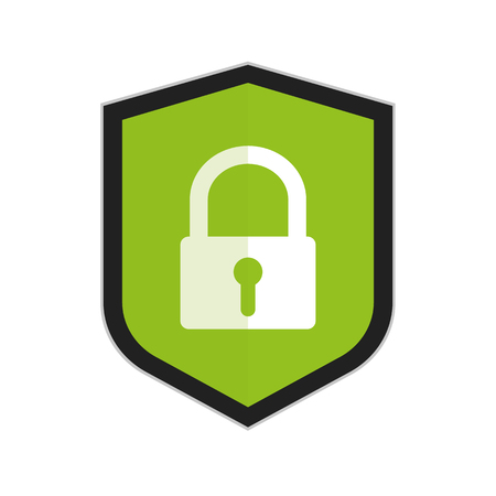 Security Shield Or Virus Shield - Vector Icon For Apps And Websites - Isolated On White Background