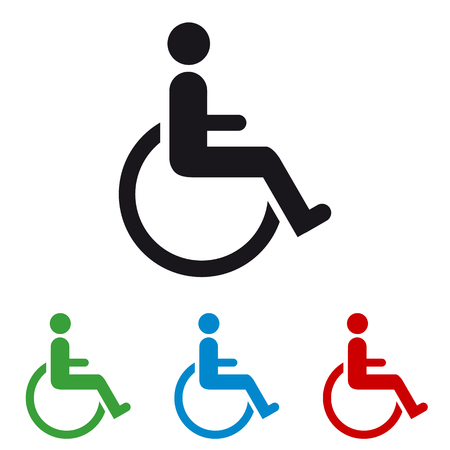 Wheelchair - Colourful Vector Icons