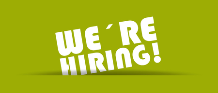 We´re Hiring - Vector Illustration With Shadow On Green Background