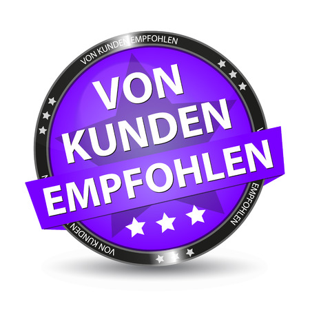 German Web Button - Translation: Recommended By Customers Illustration