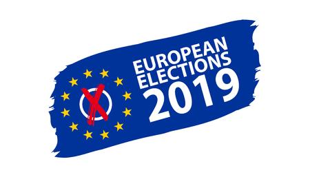 European Election 2019 vector Illustration