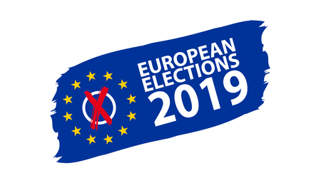 European Election 2019 vector Illustration