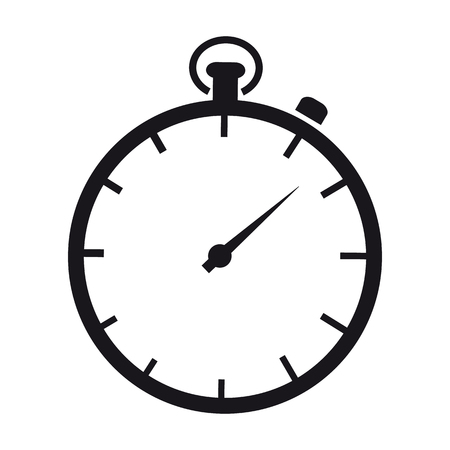 Stopwatch - Vector Illustration - Isolated On White Background 向量圖像