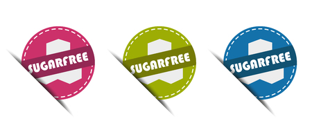 Sugar Free Buttons - Vector Illustration - Isolated on White Background Illustration