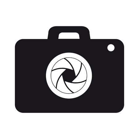 Photography Camera Icon For Apps And Websites - Vector Illustration - Isolated On White Background