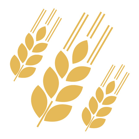 Grain Icons. Vector Illustration isolated On White Background