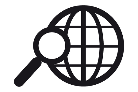 Search In World Wide Web Vector Icon - Isolated On White Background