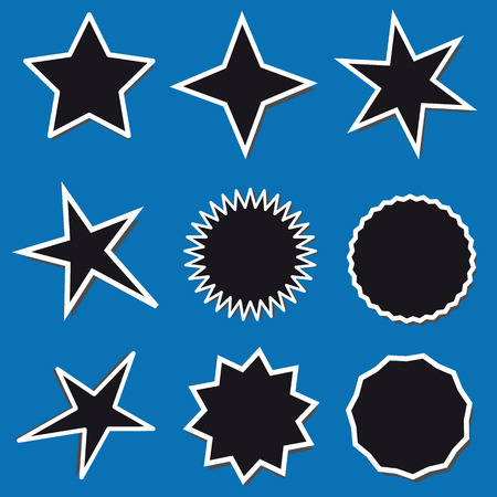 Different Stars Collection - Vector Illustration - Isolated On White Background