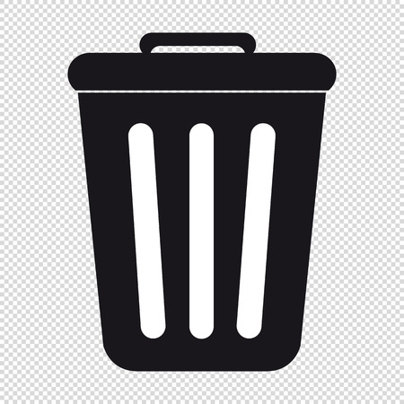 Trashcan - Vector Icon - Isolated On Transparent Background