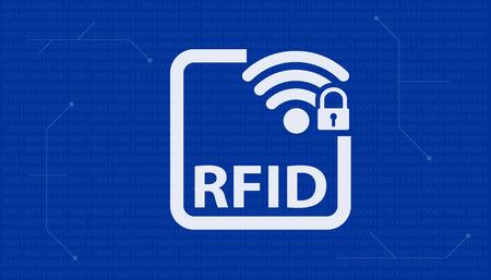 Radio Frequency Identification RFID blue