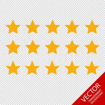 Product Rating Stars - Different Vector Icons - Isolated On Transparent Background Illustration
