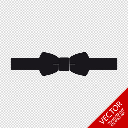 Bow Tie - Vector Icon Illustration - Isolated On Transparent Background Illustration