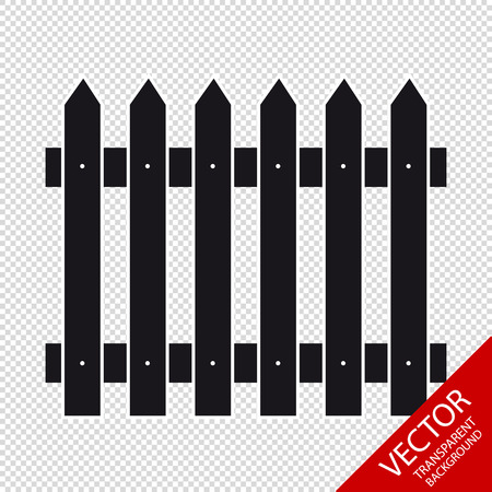 Fence Vector Icon - Isolated On Transparent Background