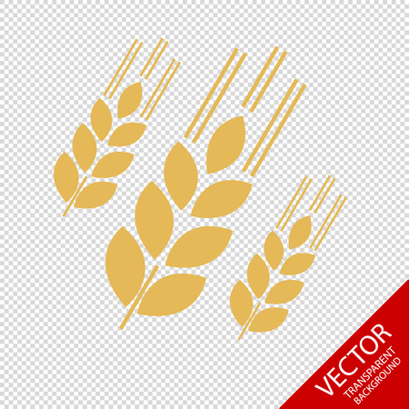 Grain Icons - Vector Illustration - Isolated On Transparent Background