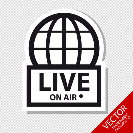 Live News On Air - Vector Icons - Isolated On Transparent Background