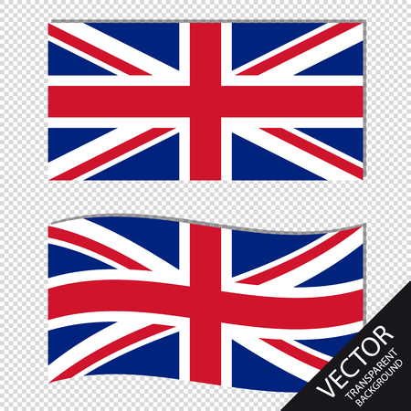 Vector Image of England Flags - Isolated On Transparent Background
