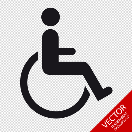 Wheelchair - Vector Illustration - Isolated On Transparent Background