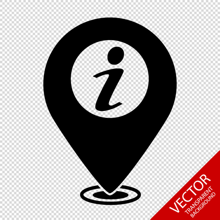 Information Map Pointer - Vector Illustration - Isolated On Transparent Background