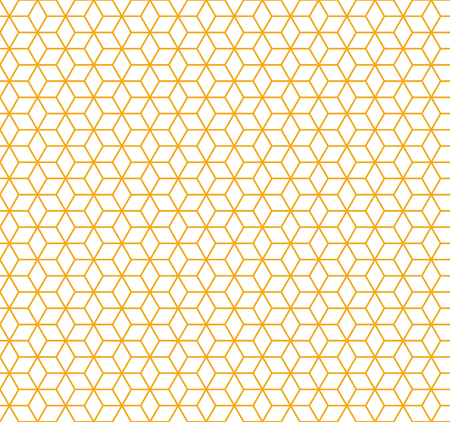 Seamless Pattern Background - Colored Vector Cubes On White