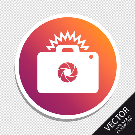 Photography Camera Icon For Apps And Websites - Vector Illustration - Isolated On Transparent Background