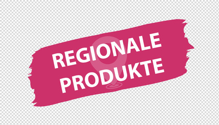 German Brushstroke Banner Regional Products - Vector Illustration - Isolated On Transparent Background