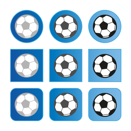 Soccer Button Set - Vector Illustration - Isolated On White Background Stock Illustratie