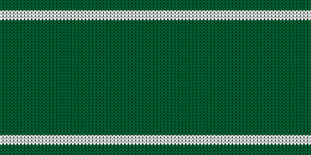 Knitted Pattern - Jumper Design With Copy Space - Green And White Vector Illustration