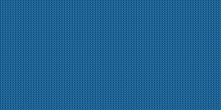 Knitted Pattern - Jumper Design With Copy Space - Blue Vector Illustration Stock Illustratie