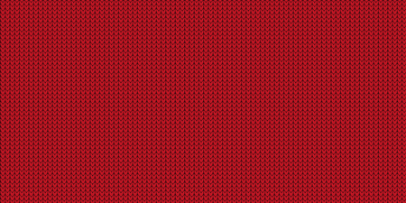 Knitted Pattern - Jumper Design With Copy Space - Red Vector Illustration Stock Illustratie