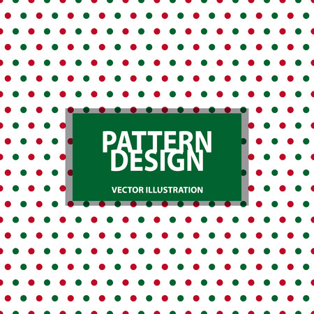 Seamless Pattern - Dotted Background - Christmas Colors - Vector Illustration - Isolated On White Background Stock Illustratie