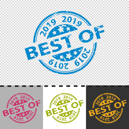 Rubber Stamp Seal - Best Of 2019 - Vector Illustration Stock Illustratie