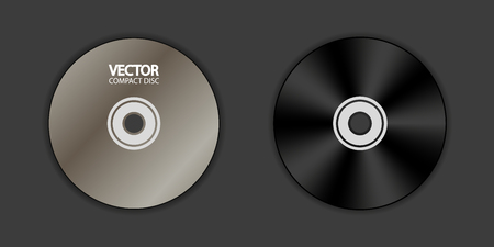 DVD Blank - Front And Back - Vector Illustration - Isolated On Black Background