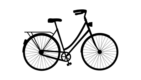 Bicycle Silhouette - Vector Illustration - Isolated On White Background