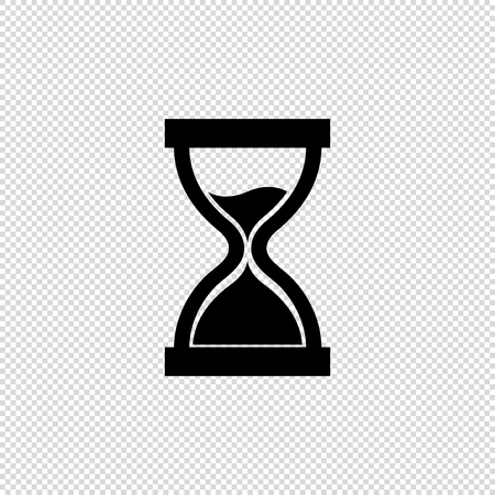 Hourglass Icon - Black Vector Illustration - Isolated On Transparent Background Illustration
