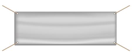 Tarpaulin Advertising Banner - White Editable Vector Illustration - Isolated On White Background Illustration