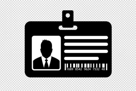 ID Card With Business Man - Vector Illustration -Isolated On Transparent Background Illustration