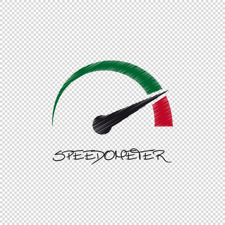 Speedometer - Vector Scribble Illustration - Isolated On Transparent Background