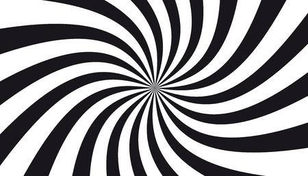 Black And White Sunburst Background - Vector Illustration