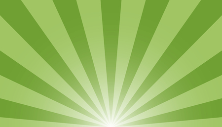 Green And White Sunburst Background - Vector Illustration