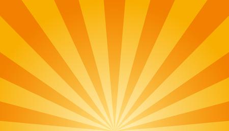 Fondo naranja y blanco Sunburst - ilustración vectorial