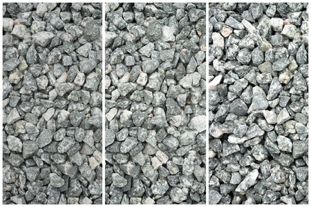 Crushed Gray Stone Texture Collage - Abstract Background Banco de Imagens - 124920481