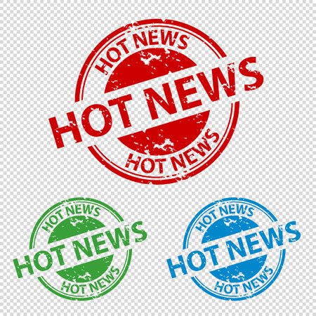 Rubber Stamp Seal Hot News - Vector Illustration - Isolated On Transparent Background Vektorové ilustrace