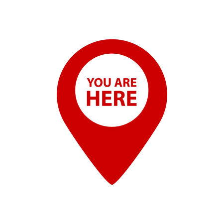 You Are Here Map Pointer - Vector Illustration - Isolated On White Background Illustration