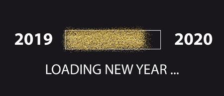 Loading New Year 2020 - Vector Illustration - Isolated On Black Background