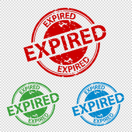 Rubber Stamp Seal Expired - Colorful Vector Illustration - Isolated On Transparent Background