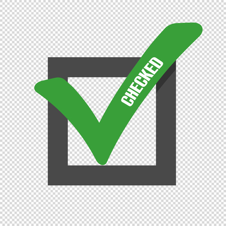Checkmark Icon - Vector Illustration - Isolated On Transparent Background Illustration