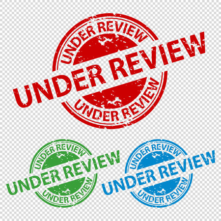 Rubber Stamp Seal Under Review - Vector Illustration - Isolated On Transparent Background Иллюстрация