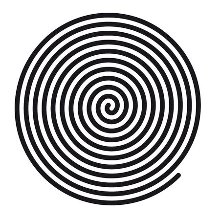 Vortex spirale hypnotique rond abstrait - Illustration vectorielle - Isolé sur fond blanc
